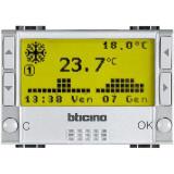 Cronotermostat zilnic saptamanal de ambient electronic Living Light Bticino 3M culoare aluminiu NT4451