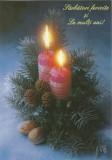 România, felicitare - carte poştală de Crăciun şi Anul Nou, necirculată