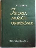 ISTORIA MUZICII UNIVERSALE - R.I. GRUBER VOL.I 1961