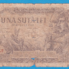 (16) BANCNOTA ROMANIA - 100 LEI 1947 (27 AUGUST 1947)