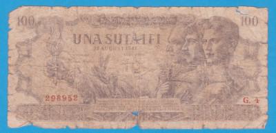 (16) BANCNOTA ROMANIA - 100 LEI 1947 (27 AUGUST 1947) foto