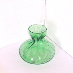 Vaza cristal verde smarald suflata manual -Blomknyte 2- design Rune Strand SEA