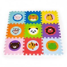 Covoras educational pentru joaca puzzle cu animale