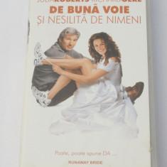 Caseta video VHS originala film tradus Ro - De Buna Voie si Nesilita de Nimeni