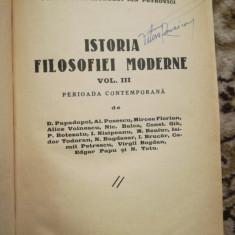 Istoria filosofiei moderne. Perioada contemporana, vol. III, 1938, I. Petrovici