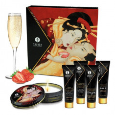 Set Cadou Stimulente Erotice Shunga Geishas Secret - Strawberry Wine