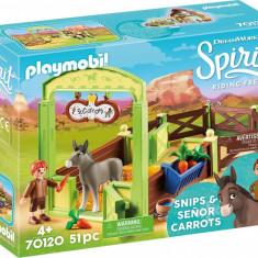 Grajd si copil cu morcovi Playmobil Spirit