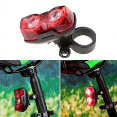 Stop pentru bicicleta, 2 LED-uri, 3 moduri iluminare, montare spate