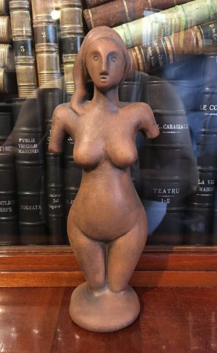 Maxim - Tarancuta (1999) - sculptura in lut ars (24.5 x 9.5 cm.) - Impecabilă!