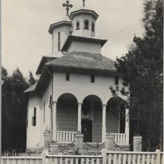 Carte postala Sovata Băi - biserica ortodoxă română interbelica