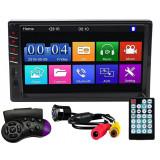 "Cumpara ieftin MP5 Player Techstar® 7035, 2DIN, Camera Marsarier, Ecran HD Touch 7"", Comenzi Volan, Telecomanda, MirrorLink, Bluetooth 4.2"