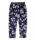 Pantaloni imblaniti cu model floral