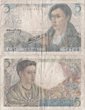 1943 (22 VII), 5 francs (P-98a.2) - Franța