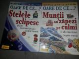 Lot 2 carti copii,OARE DE CE ..? Stelele sclipes-Muntii au zapezi pe culmi,T.GRA