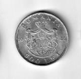 ROMANIA 500 LEI 1944 CU LUCIU DE MONETARIE ARGINT STARE AUNC, Europa