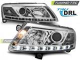 Faruri compatibile cu Audi A6 C6 04.04-08 TRU DRL Crom H7