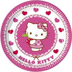 Farfurii petreceri Hello Kitty Hearts set 8 buc