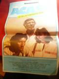 Afis la Filmul ACASA de Ctin Vaeni - cu Il.Ciobanu, Oana Pellea, 1984,dim.=31x46