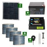 Gard electric Animale Sălbatice 6,6J putere cu Sârmă 4000m și Panou Solar