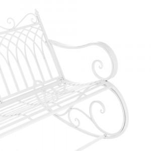 Scaun Balansoar Pentru Gradina Din Metal Pentru 2 Persoane Vintage 85 X 113 X 95 Cm Alb Casa Pro Okazii Ro