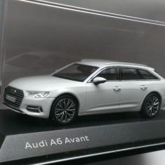 Macheta Audi A6 Avant C8 2018 alb break - iScale 1/43