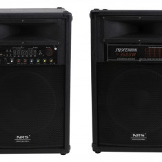 Boxe Profesionale Active,set 2boxe, Mixer,Bluetooth,Microfoane,Putere 800 W, Boxe exterior, 500 - 1000 W
