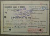 Legitimatie Intreprinderile A. Ioanovici, fabrica armament Sadu/ 1942