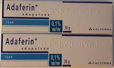 ADAPALENE 0.1% Gel Adaferin Differin Acnee Adapalena (Tretinoin/Retinol/Riduri) foto