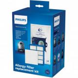 Kit aspirator Philips FC8060/01: 4 saci de praf S-bag, 1 filtru evacuare HEPA13, 1 filtru cu strat triplu, compatibil cu gamele Performer /Pro/Silent/