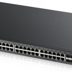 Zyxel xgs2210-52 48-port gbe l2 switch with 10gbe uplink layer