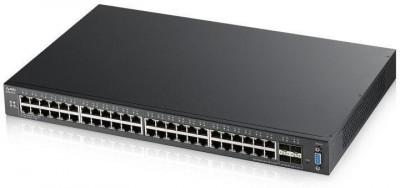 Zyxel xgs2210-52 48-port gbe l2 switch with 10gbe uplink layer foto