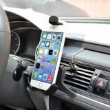 Suport auto pentru smartphone din ABS cu fixare la ventilator, Value 19.99.1051