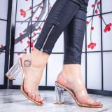 Sandale dama champagne dama Tradis