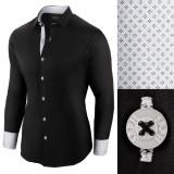 Camasa pentru barbati neagra regular fit bumbac casual premium Business Class Ultra