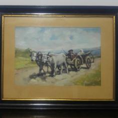 Car cu boi// reproducere de epoca dupa Nicolae Grigorescu, U/C