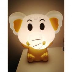 Lampa de veghe pentru copii, elefant, galben, lumina calda, Gonga