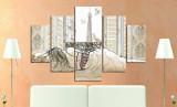 Tablou decorativ multicanvas Miracle, 5 Piese, Paris, 236MIR1988, Multicolor