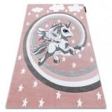 Covor PETIT PONY ponei roz, 80x150 cm