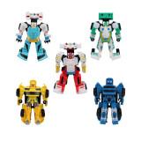 Set 6 roboti Light & Sound, sunete si lumini, 3 ani+, General