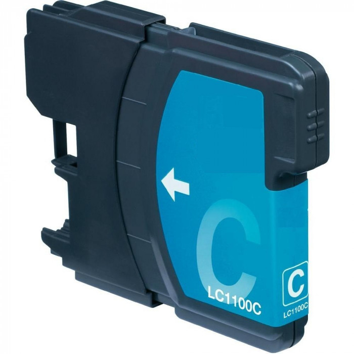 Cartus compatibil pentru Brother LC1100 LC980 LC61 Cyan
