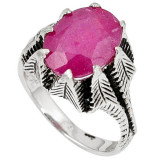 Cumpara ieftin Inel bijuterie din argint 925 cu rubin
