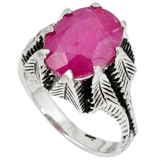 Inel bijuterie din argint 925 cu rubin