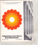 bnk div - Primavara culturala bucuresteana 1976 - program