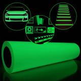 Folie fosforescenta verde 1 mp, autoadeziva, lumineaza intens, material vinil