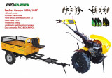 Pachet motocultor Campo 1803, benzina, EURO5, 18CP, 2+1 trepte, remorca 500kg, ulei motor si transmisie incluse, Progarden
