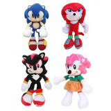 Sonic Hedgehog - set 4 jucarii de plus 30cm, Generic