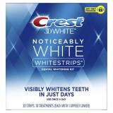 Cutie 10x Plicuri, Benzi Albirea Dintilor, Crest, 3D White, Noticeably White, 9% Concentratie, 10 zile
