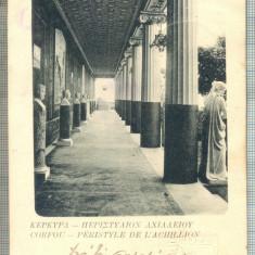 AD 667 C. P. VECHE-CORFOU-PERISTYLE DE...-GRECIA-CIRC1903-IRENE PETRIDES, BRAILA