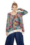 Bluza cu dungi multicolore Aretha, Marimea L, Desigual, Multicolor