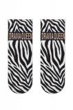 Cumpara ieftin Șosete poliamidă 1/2 cu model zebra, Fantasy 047
